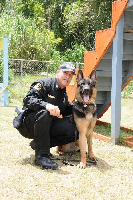 Agente de la unidad canina
