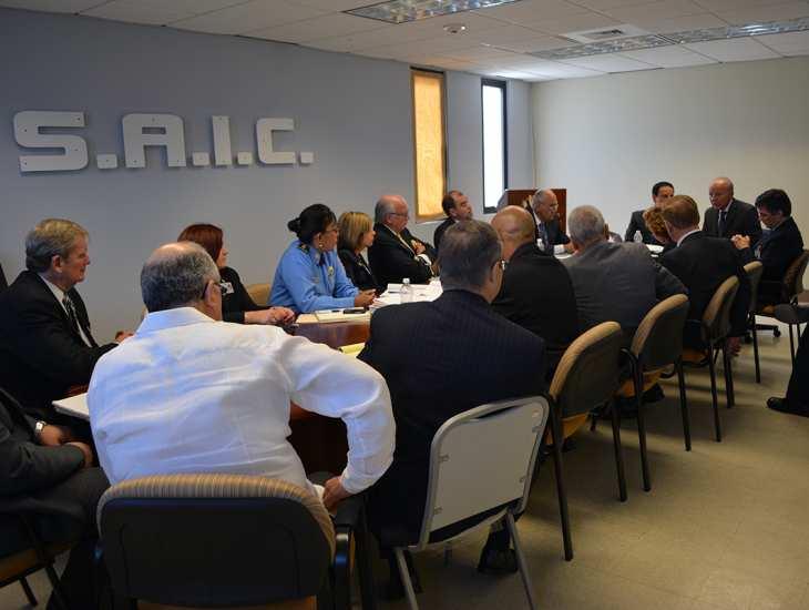 Reunión del TCA y Secretario de Justicia
